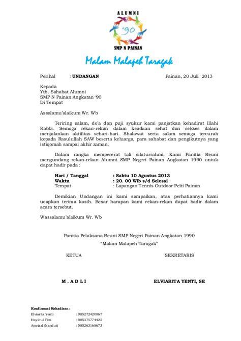 contoh invitation letter smp contoh miri