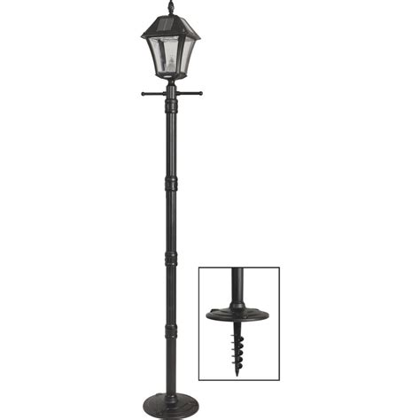 solar dusk to dawn light gama sonic baytown ii solar dusk to dawn led post light