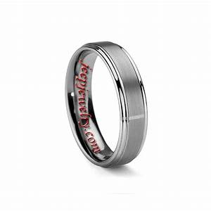 6mm mens or womens brushed tungsten carbide wedding ring With tungsten carbide womens wedding rings