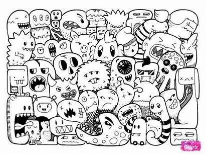Doodle Monster Doodles Coloring Pages Monsters
