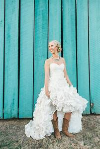 country ruffled wedding dress with cowgirl boots how cute With wedding dress cowboy boots