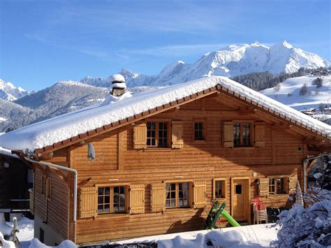 chalet de standing style savoyard 4 etoiles vue mont blanc individuel rh 244 ne alpes