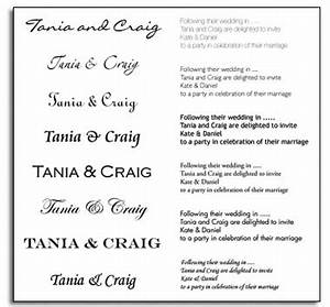 7 wedding invitation font samples images popular wedding With font for wedding invitation labels