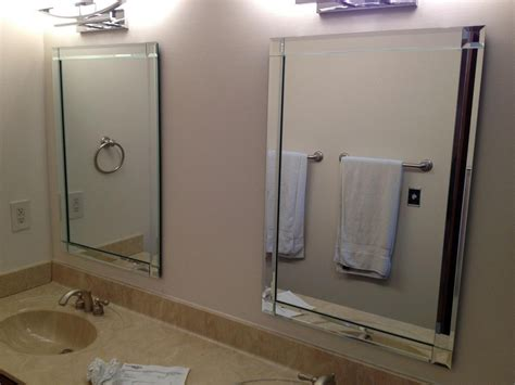 Frameless Beveled Mirror, Beveled Bathroom Mirror Gallery