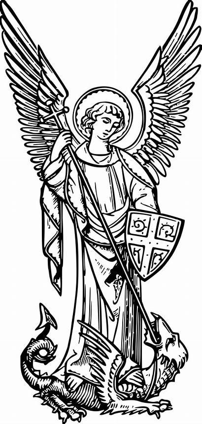 Archangel Michael Vector Clipart Domain 1607 1995