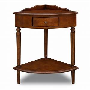 Leick 9016 favorite finds corner end table atg stores for Corner side table