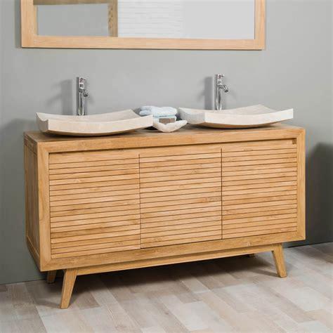 meuble de salle de bain avec meuble de cuisine meuble sous vasque vasque en bois teck massif