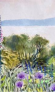 Felicity House, VIEW TO PORTLAND : pastel | Art ...