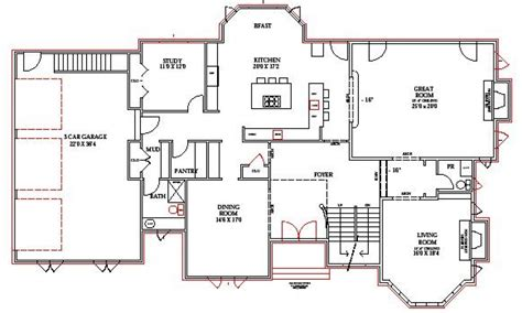 home blue prints lake home floor plans lake house plans walkout basement