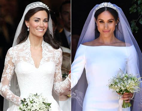 Kates Wedding Dress : Kate Middleton And Meghan Markle