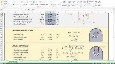 4 Lifting Lug Analysis  Simplified Youtube