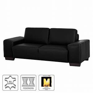 Big Sofa Echtleder : sofa big 2 sitzer echtleder schwarz naturoo von home24 ansehen ~ Orissabook.com Haus und Dekorationen