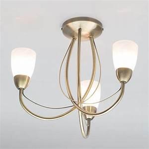 Madrid semi flush ceiling light antique brass