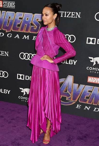 Saldana Zoe Avengers Endgame Premiere Attends Angeles