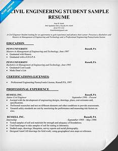 Civil Engineering Resume Example Pin By Salman Afzaal On Education Student Resume Resume