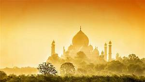 Full HD Wallpaper taj mahal sunrise side view wonder india ...