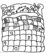 Quilt Coloring Bed Boy Pages Motifs Various sketch template