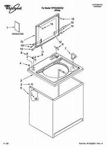 Whirlpool Model Wtw5200vq2 Residential Washers Genuine Parts