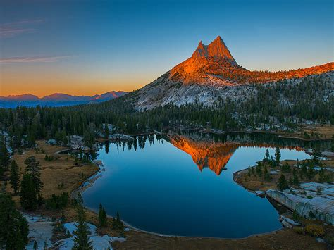 Top Desktop Background by Sunset Mountain Rocky Mountain Top Lake Reflecting In