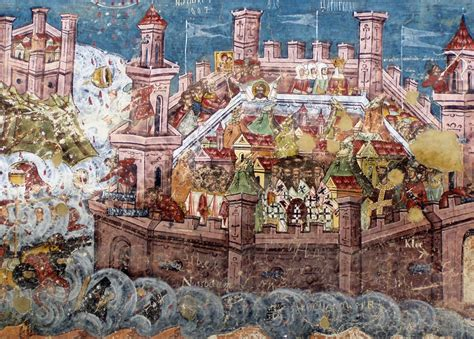 about the icon the siege of constantinople monomakhos