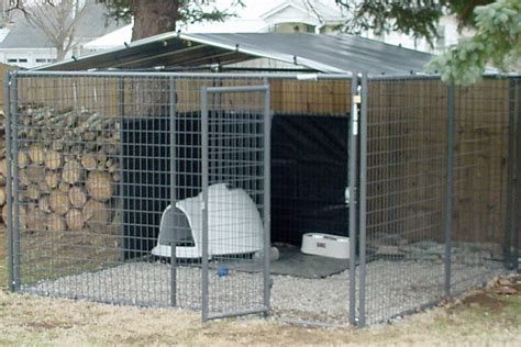 diy    kennel cover  truss  chain link type kennel