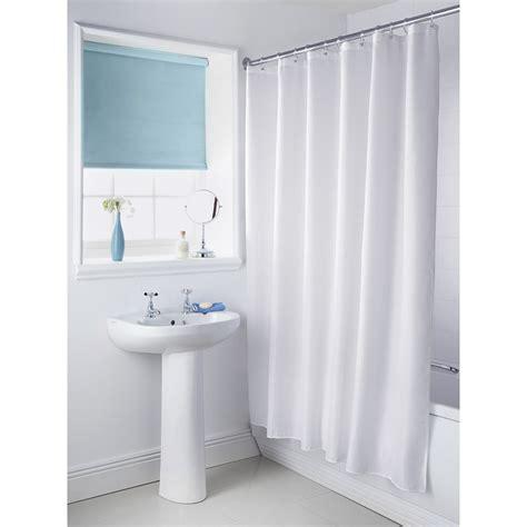 Plain White Shower Curtain - plain shower curtain white bathroom accessories b m