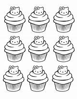 Coloring Cupcakes Kitty Hello Cup Cakes Pages Simple Cupcake Adults Cake Adult Coloriage Zentangle Dessin Colouring Printable Coloriages Kawaii Sheets sketch template