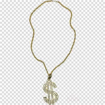 Dollar Clipart Necklace Gold Sign Transparent Clip