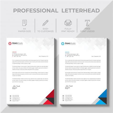 creative letterhead design template vector psd file