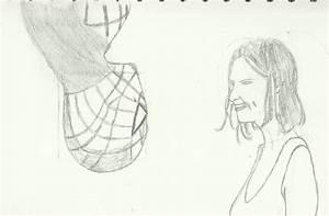 Spiderman Kissing Mary Jane Drawing
