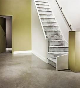 deco escalier gris With peindre escalier bois en blanc 10 la renovation descalier saint maclou saint maclou