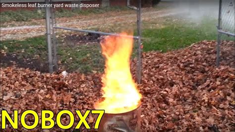 Smokeless Leaf Burner Yard Waste Disposer