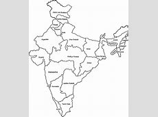 india political outline coloring pages