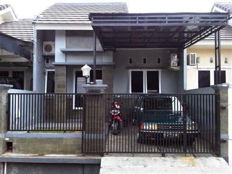 model pintu pagar rumah minimalis  kayu  besi