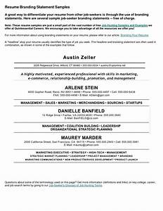 Resume Personal Statement Sample