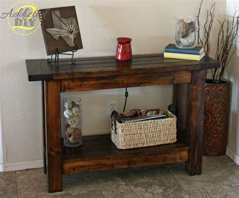 front door table pottery barn inspired console table addicted 2 diy