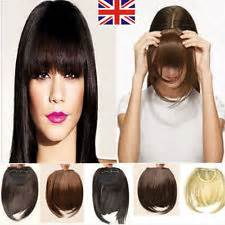 uk lady clip on clip in front hair bang fringe hair