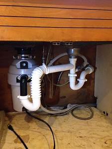 Garbage Disposal Piping Under Kitchen Sink   Plumbing