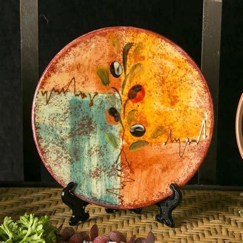 olive cruet ceramic vintage olive tapas plate set of 4 i see spain