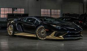This Black And Gold Lamborghini Aventador SV Coupe Is One ...