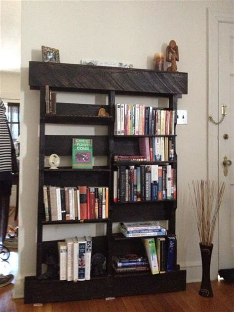wooden pallet bookshelves design pallets designs