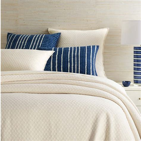 Ivory Matelasse Coverlet by Ivory Matelass 233 Coverlet Pine Cone Hill