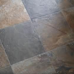 ceramic slate look tile basement for the organized