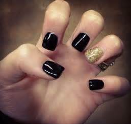 Pics photos black and gold nail designs