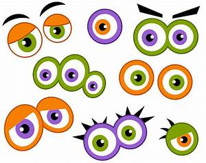 Monster Eyes Digital Clip Art, Cute Monster Eyes ...