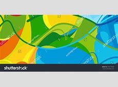 Rio 2016 Brazil Games Abstract Colorful Stock Vector