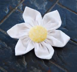 Fabric Flower Tutorial Hair Clip