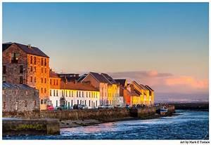 Sunset On Beautiful Galway Ireland Art Print