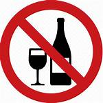 Alcohol Drinking Ban Sign Wine Outside Icon