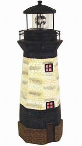 Solar Powered Halloween Stake Lights Solar Lighthouse Decor W Rotating Beacon Only 69 99 At